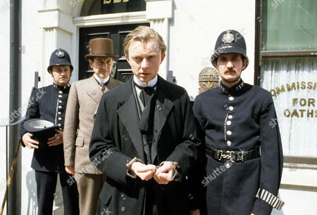 Series 2 Episode 3 - The Norwood Builder Colin Jeavons as Inspector Lestrade and Matthew Solon as John Hector McFarlane