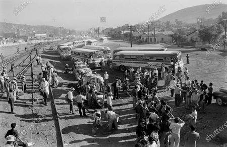 Immigration and Naturalization Service enforcing mass deportation in California, United States, 1954.