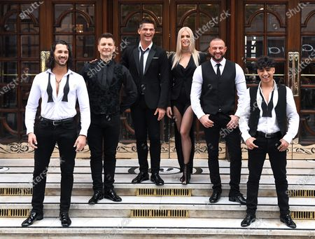 Graziano Di Prima, Pasha Kovalev, Aljaz Skorjanec, Nadiya Bychkova, Robin Windsor and Karim Zeroual