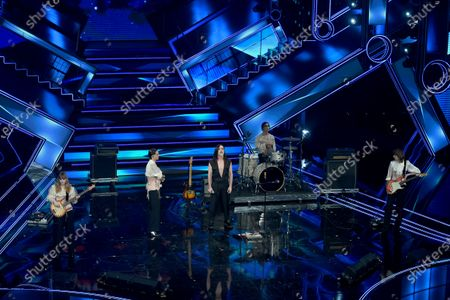 Sanremo, 71st Italian Song Festival 2021. 3rd Evening - Maneskin, Manuel Agnelli