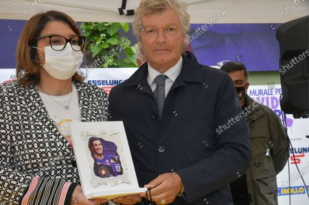 Stock Picture of Giancarlo Antognoni former Fiorentina player during the inauguration of the mural dedicated to the former Fiorentina player Davide Astori died of cardiac arrest