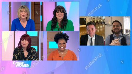 Ruth Langsford, Coleen Nolan, Janet Street-Porter, Brenda Edwards, Shane Nolan, Ray Quinn
