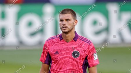 Stock Image of Inter Miami goalkeeper John McCarthy (1) in action against the Chicago Fire during the second half of an MLS soccer match, in Chicago