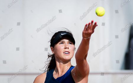Stock Photo of Natalia Vikhlyantseva of Russia in action during the first qualifications round at the 2021 Roland Garros Grand Slam Tournament