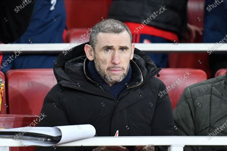 Martin Keown during Europa League Round of 32 2nd Leg between Arsenal and Olympiakos at Emirates stadium , London, England on 27 February  2020.