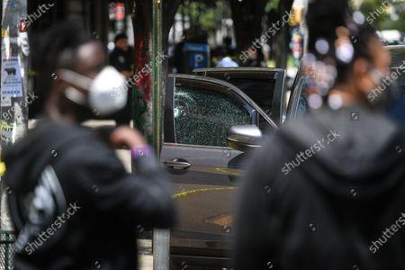 Editorial photo of Shooting at Adam Clayton Powell Jr, New York, USA - 25 May 2021