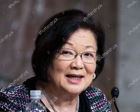 Stock Image of U.S. Senator Mazie Hirono (D-HI) speaks at a hearing of the Senate Armed Services Committee.