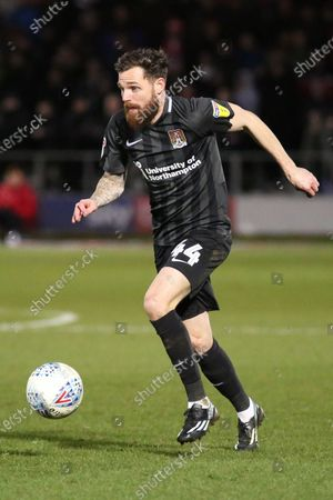 Paul Anderson of Northampton Town FC during the Sky Bet League 2 match between Salford City and Northampton Town at Moor Lane, Salford on Saturday 11th January 2020.