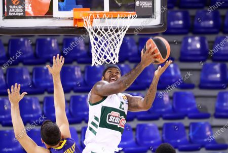 Marcus Foster during the match between FC Barcelona and Panathinaikos BC, corresponding to the week 4 of the Euroleague, played at the Palau Blaugrana, on 15th October 2020, in Barcelona, Spain.  --