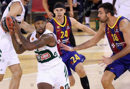 Stock Image of Marcus Foster during the match between FC Barcelona and Panathinaikos BC, corresponding to the week 4 of the Euroleague, played at the Palau Blaugrana, on 15th October 2020, in Barcelona, Spain.  --
