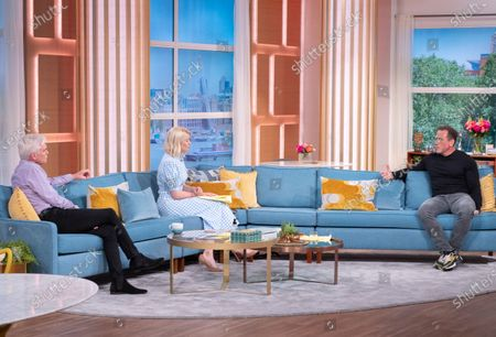 Stock Image of Phillip Schofield and Holly Willoughby with Jason Fox