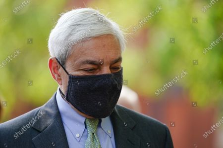 Former Penn State President Graham Spanier walks from the Dauphin County Courthouse in Harrisburg, Pa., after a hearing at . A judge has upheld the jail sentence of Spanier who was forced out as the school's top administrator after Jerry Sandusky was arrested nearly a decade ago. The judge said Spanier must report to jail on July 9 to begin serving at least two months for endangering the welfare of children, followed by two months of house arrest