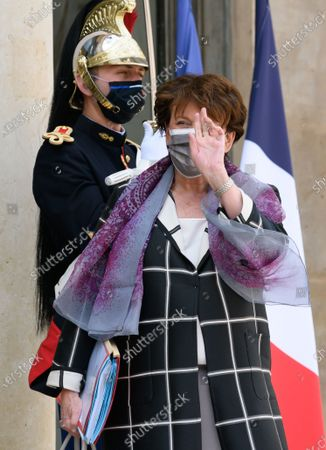 French Culture and Communication minister Roselyne Bachelot leaves after the weekly cabinet meeting at Elysee Palace.