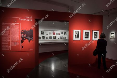 Stock Picture of Visit on May 26, 2021 of the great retrospective of the work of French photographer Marc Riboud, who was born in 2016, on the occasion of the legacy of all his work at the Musee National des Arts Asiatiques-Guimet in Paris. The museum pays tribute to him with 300 photographs that trace his career, passing through the Magnum Agency and his life around the world, under the title: Marc Riboud. Possible stories, from May 19, 2021 until September 6, 2021.
