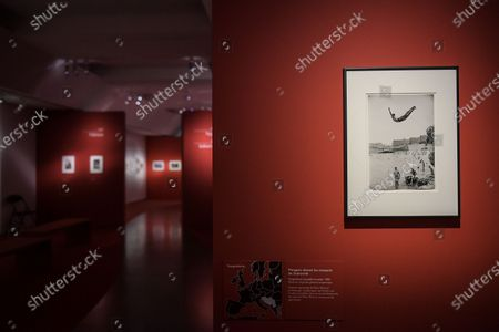 Stock Photo of Visit on May 26, 2021 of the great retrospective of the work of French photographer Marc Riboud, who was born in 2016, on the occasion of the legacy of all his work at the Musee National des Arts Asiatiques-Guimet in Paris. The museum pays tribute to him with 300 photographs that trace his career, passing through the Magnum Agency and his life around the world, under the title: Marc Riboud. Possible stories, from May 19, 2021 until September 6, 2021.