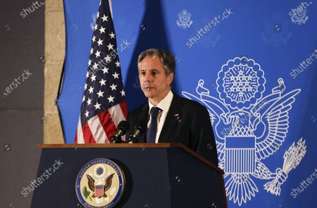 U.S. Secretary of State Tony Blinken speaks during a news conference in Jerusalem, May 25, 2021. /Ronen ZVULUN/Pool