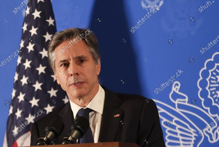 U.S. Secretary of State Tony Blinken speaks during a news conference in Jerusalem, May 25, 2021.