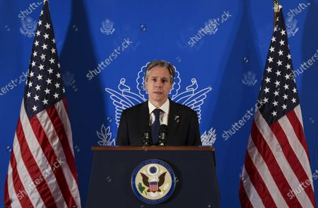 Editorial picture of U.S. Secretary of State Blinken holds a news conference, Jerusalem, Israel - 25 May 2021