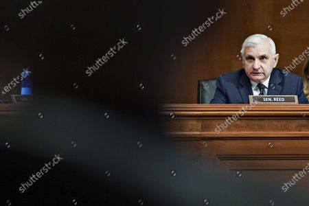 Sen. Jack Reed, D-R.I., speaks during a Senate Appropriations Subcommittee hearing, on Capitol Hill in Washington