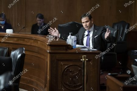 Senator Marco Rubio (R-FL) questions witnesses during a Senate Appropriations Labor, Health and Human Services Subcommittee hearing looking into the budget estimates for National Institute of Health (NIH) and state of medical research on Capitol Hill in Washington, DC on Wednesday, May 26, 2021.