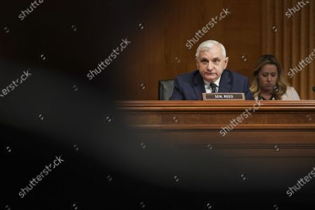 Senator Jack Reed, a Democrat from Rhode Island, speaks during a Senate Appropriations Subcommittee hearing in Washington, DC, USA, 26 May 2021. The hearing is titled 'National Institutes of Health's FY22 Budget and the State of Medical Research.'