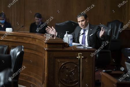 United States Senator Marco Rubio (Republican of Florida) questions witnesses during a Senate Appropriations Labor, Health and Human Services Subcommittee hearing looking into the budget estimates for National Institute of Health (NIH) and state of medical research on Capitol Hill in Washington, DC.
