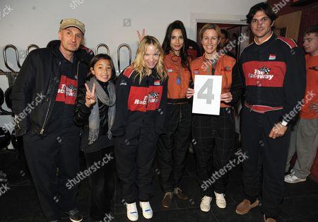 Paul Windle, daughter, Natalie Press, Astrid Munoz, Sydney Ingle-Finch and Eduardo Astrada
