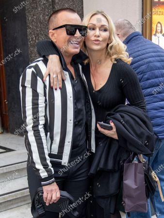 Julien Macdonald and Kristina Rihanoff