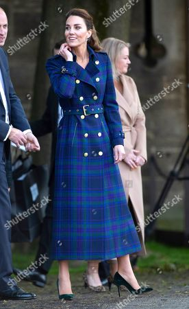 Catherine Duchess of Cambridge, The Duke and Catherine Duchess of Cambridge, at a special drive-in cinema to watch a screening of Disney's Cruella at the Palace of Holyroodhouse in Scotland, United Kingdom.