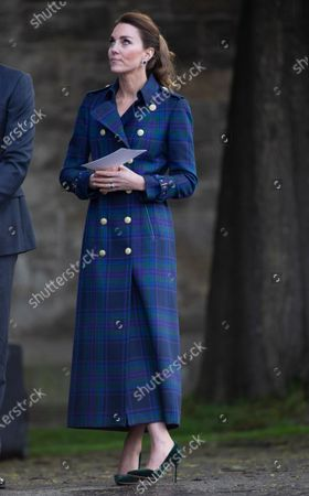 Catherine Duchess of Cambridge, The Duke and Catherine Duchess of Cambridge, at a special drive-in cinema to watch a screening of Disney's Cruella at the Palace of Holyroodhouse in Scotland, United Kingdom