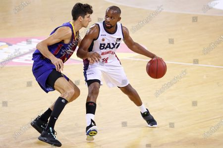 Jonathan Tabu during the match between FC Barcelona and Baxi Manresa, corresponding to the semifinal of the Catalan Basketball League, played at the Palau Blaugrana, on 04th September 2020, in Barcelona, Spain.