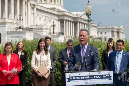 Editorial photo of Jon Stewart and John Feal hold a press conference to unveil legislation to address toxic exposure, Washington, District of Columbia, USA - 26 May 2021