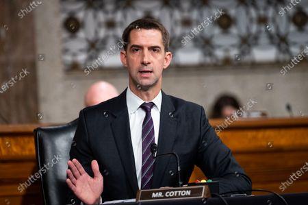 U.S. Senator Tom Cotton (R-AR) speaking at a Senate Judiciary Committee hearing.