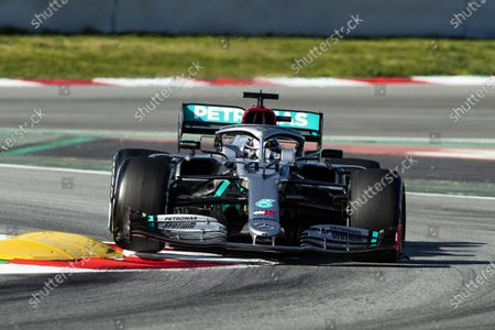 44 HAMILTON Lewis (gbr), Mercedes AMG Petronas F1 W11, action during the Formula 1 Winter Tests at Circuit de Barcelona - Catalunya on February 26, 2020 in Barcelona, Spain.