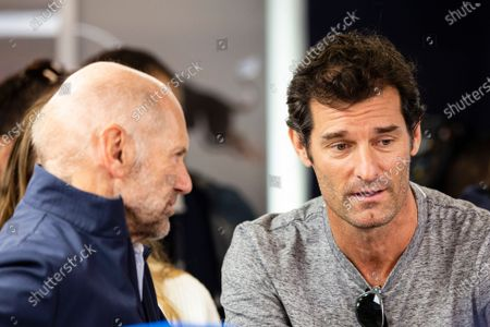 Mark Webber and Adrian Newey portrait during the Formula 1 Winter Tests at Circuit de Barcelona - Catalunya on February 28, 2020 in Barcelona, Spain.