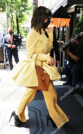 Victoria Beckham arriving back to The Mark Hotel