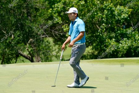 Sung Kang, of South Korea, plays during the first round of the AT&T Byron Nelson golf tournament in McKinney, Texas