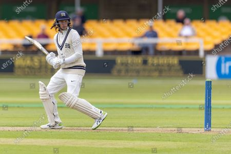 Peter Handscomb during Day 1 of the LV= Insurance County Championship match between Leicestershire County Cricket Club and Middlesex County Cricket Club at the Uptonsteel County Ground, Leicester