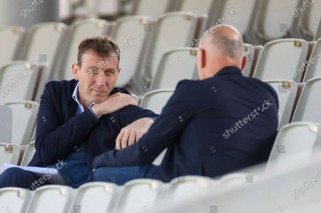 Stock Picture of Michael Atherton during the LV= Insurance County Championship match between Lancashire County Cricket Club and Yorkshire County Cricket Club at the Emirates, Old Trafford, Manchester
