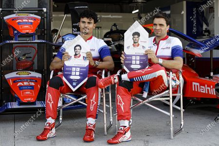 WEHRLEIN Pascal (deu), Mahindra Racing, portrait and D'AMBROSIO Jerome (bel), Mahindra Racing, portrait during the ABB Formula E Championshop official pre-season test of season six at Circuit Ricardo Tormo in Valencia on October 15, 16, 17 and 18 of 2019, Spain.