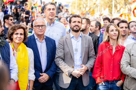 Editorial image of Protest Against The Catalan Separatist In Barcelona, Spain - 27 Oct 2019