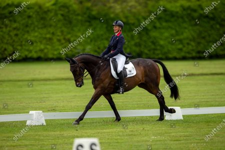 Stock Photo of Mary King (GBR) on King Cyrus in the Dressage CCI-L 2* Section A