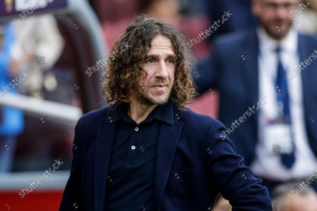 Carles Puyol during La Liga match between FC Barcelona and Deportivo Alaves at Camp Nou on December 21, 2019 in Barcelona, Spain.