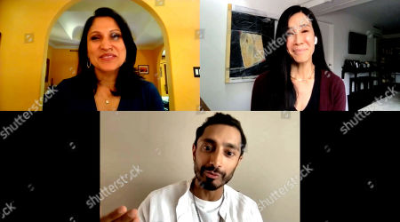 Roots of Resilience, Seeds of Change 49th Anniversary Gala panel moderator, Lisa Ling, and panelist Riz Ahmed with Aarti Kohli.