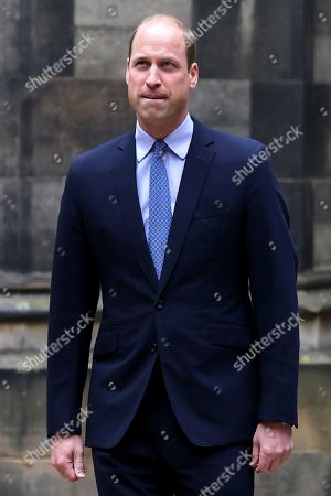 Prince William arrives at the Closing Ceremony of the General Assembly of the Church of Scotland at the General Assembly Buildings on May 27, 2021 in Edinburgh, Scotland. Prince William was supposed to be Lord High Commissioner at the General Assembly in May last year but the event was cancelled. His Royal Highness was appointed by The Queen as her personal representative. Commissioners and other attendees join the event remotely from across Scotland and around the world, with only a small number of people present in the assembly hall.