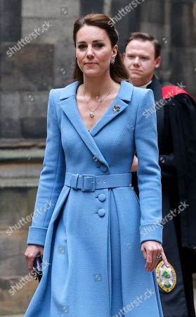 Catherine Duchess of Cambridge arrives at the Closing Ceremony of the General Assembly of the Church of Scotland at the General Assembly Buildings on May 27, 2021 in Edinburgh, Scotland. Prince William was supposed to be Lord High Commissioner at the General Assembly in May last year but the event was cancelled. His Royal Highness was appointed by The Queen as her personal representative. Commissioners and other attendees join the event remotely from across Scotland and around the world, with only a small number of people present in the assembly hall.