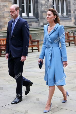 Prince William and Catherine Duchess of Cambridge arrive at the Closing Ceremony of the General Assembly of the Church of Scotland at the General Assembly Buildings on May 27, 2021 in Edinburgh, Scotland. Prince William was supposed to be Lord High Commissioner at the General Assembly in May last year but the event was cancelled. His Royal Highness was appointed by The Queen as her personal representative. Commissioners and other attendees join the event remotely from across Scotland and around the world, with only a small number of people present in the assembly hall.