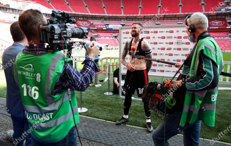 Editorial photo of Brentford v Swansea City, EFL Sky Bet Championship, Playoffs, Final, Football, Wembley Stadium, London, UK - 29 May 2021