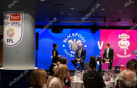 Commercial and marketing - Bela Shah hosts a Q & A in The Wembley Suite with Grant Brown and Gary Taylor-Fletcher