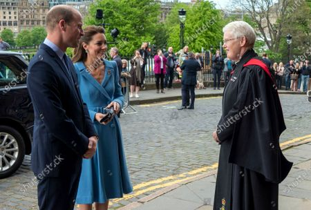 In this handout photo provided by the Church of Scotland, Britain's Prince William and Kate, Duchess of Cambridge attend the closing ceremony of the General Assembly in Edinburgh
